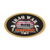 Iraq war veteran Oval Car Magnets