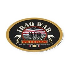 Iraq War Veteran Oval Car Magnet