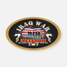 Iraq War Veteran Oval Car Magnet