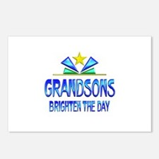 Grandsons Brighten the Da Postcards (Package of 8)