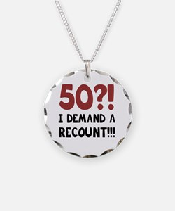 50th Birthday Gag Gift Necklace