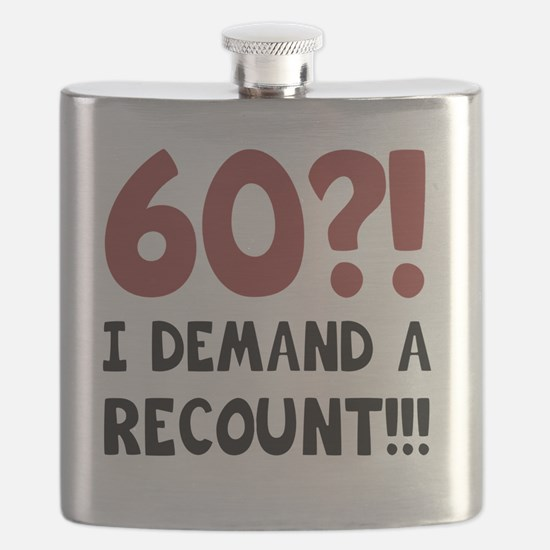 60th Birthday Gag Gift Flask
