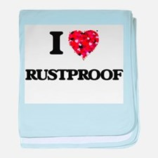 I Love Rustproof baby blanket