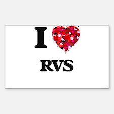 I Love Rvs Decal