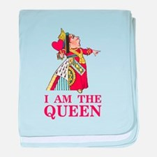 """The Queen of Hearts says, """"I am the Q baby blanket"""