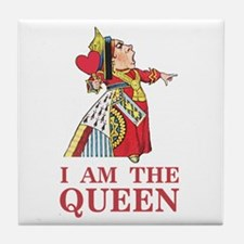 "The Queen of Hearts says, ""I am the Q Tile Coaster"
