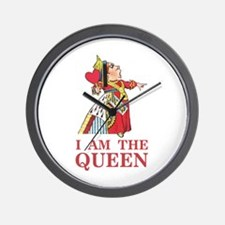 "The Queen of Hearts says, ""I am the Que Wall Clock"