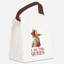 "The Queen of Hearts says, ""I am t Canvas Lunch Bag"