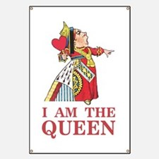 "The Queen of Hearts says, ""I am the Queen!"" Banner"
