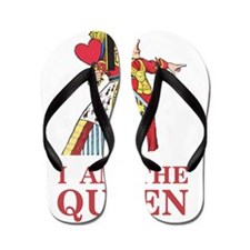 """The Queen of Hearts says, """"I am the Que Flip Flops"""