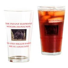 st louis fans Drinking Glass