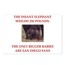 san diego fans Postcards (Package of 8)