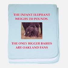 oakland fans baby blanket