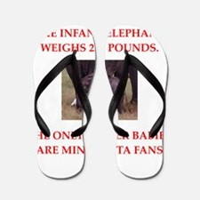 funny fan joke Flip Flops