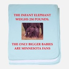 funny fan joke baby blanket
