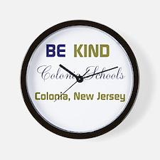 BE KIND. COLONIA SCHOOLS. Wall Clock