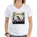 Car Women's V-Neck T-Shirt