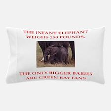 green bay fans Pillow Case