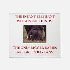green bay fans Throw Blanket