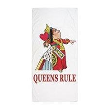 Queens Rule, says the Queen of Hearts Beach Towel