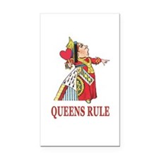 Queens Rule, says the Queen o Rectangle Car Magnet