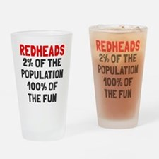 Redheads 100% Fun Drinking Glass