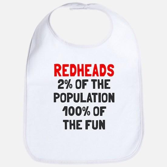 Redheads 100% Fun Bib