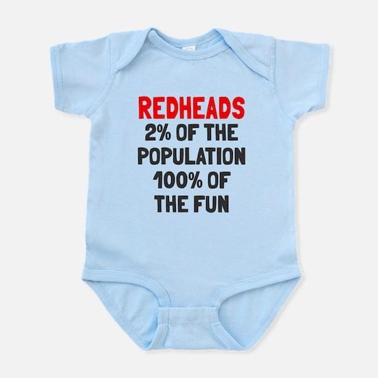 Redheads 100% Fun Infant Bodysuit