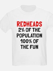 Redheads 100% Fun T-Shirt
