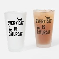 Every day is Caturday Drinking Glass