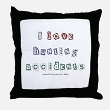 Hunting Accident Throw Pillow