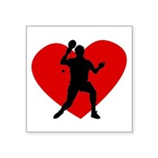 Table Tennis Heart Sticker