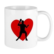 Table Tennis Heart Mugs