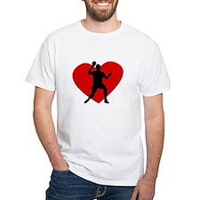 Table Tennis Heart T-Shirt