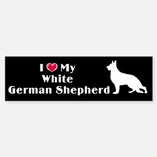 White German Shepherd Bumper Bumper Bumper Sticker