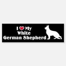 White German Shepherd Bumper Car Car Sticker