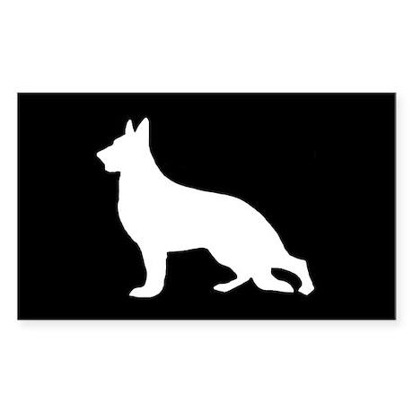 White German Shepherd Rectangle Sticker