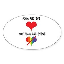 Adam and Eve not Adam and Steve. Decal