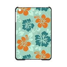 Teal-orange-turquise Hawaiian Hibiscus iPad Mini C