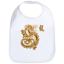 Golden Chinese Dragon Bib