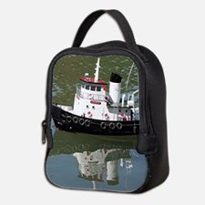 Model tugboat reflections in wa Neoprene Lunch Bag