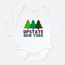 UPSTATE NEW YORK (PINE Long Sleeve Infant Bodysuit