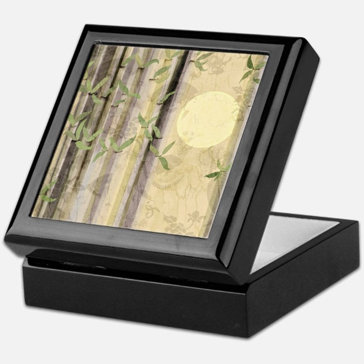 Bamboo Kimono Neutral Tones Keepsake Box