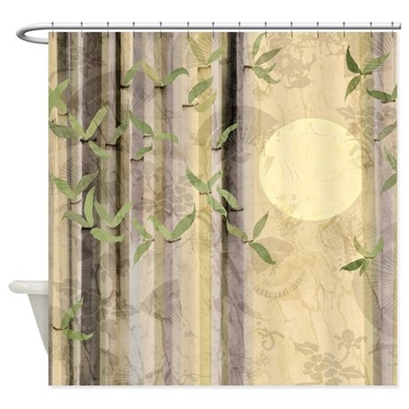 Bamboo Kimono Neutral Tones Shower Curtain By Listing