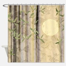 Bamboo Kimono Neutral Tones Shower Curtain