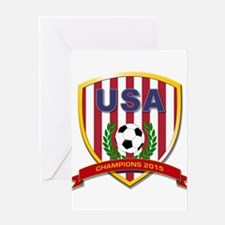 USA Soccer Women 2015 Greeting Cards