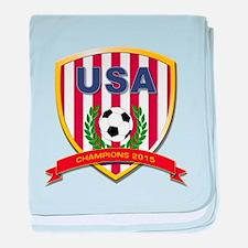 USA Soccer Women 2015 baby blanket
