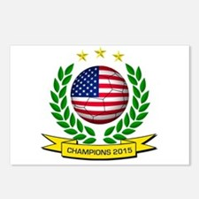 USA Soccer Women 2015 Postcards (Package of 8)