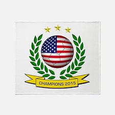 USA Soccer Women 2015 Throw Blanket