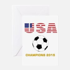 USA Soccer Womens Champions 2015 Greeting Cards
